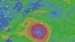 한국 땅 크기만 한 초 거대 태풍이 올라오고