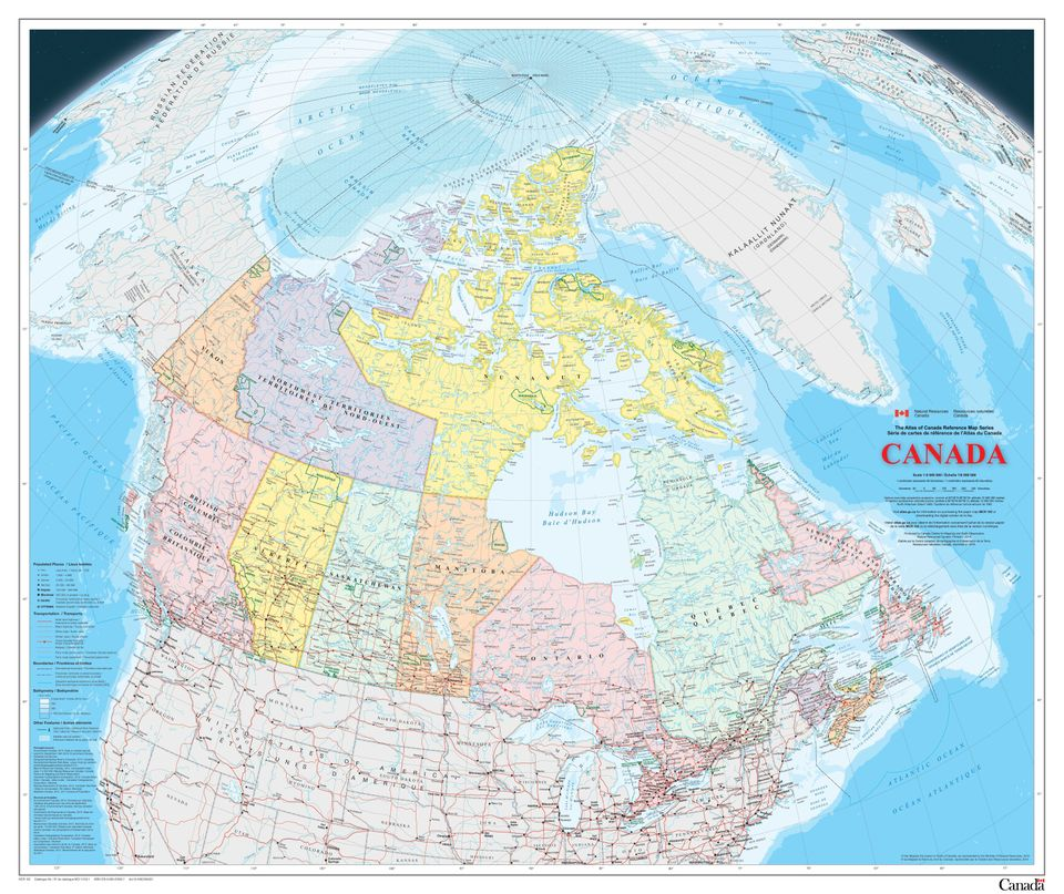 The New Map Of Canada Shows More Arctic Sea Ice Than In