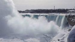 Niagara Falls Is Encased In Ice Right