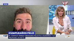La 'encerrona' en directo a Susanna Griso en 'Espejo Público' por su 50º