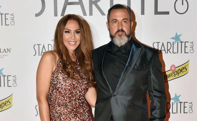 Mónica Naranjo y Óscar Tarruella, en la gala del Festival Starlite el 13 de agosto de