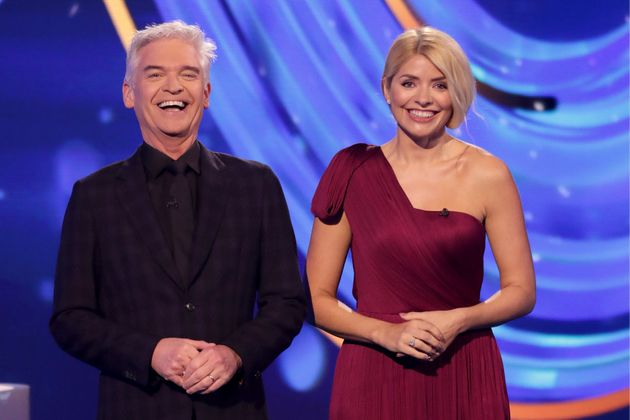 Dancing On Ice presenters Phillip Schofield and Holly