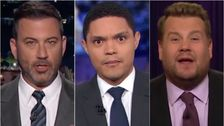 Larut Malam Host Menemukan Lucu Terbaru Trump Penyelidikan Impeachment Twist