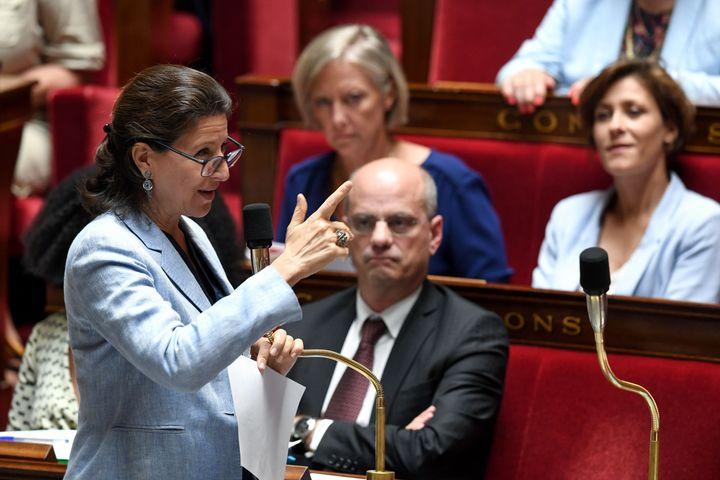 L'Assemblée vote une meilleure prise en charge des enfants intersexués, sans interdire les opérations controversées (photo de la ministre de la Santé Agnès Buzyn en juillet 2019 à l'Assemblée)