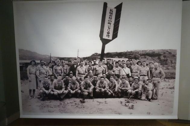 長崎の爆心地に建てられていたという矢形標柱の資料写真