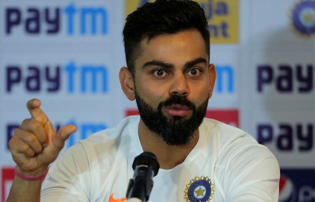 Virat Kohli addresses a press