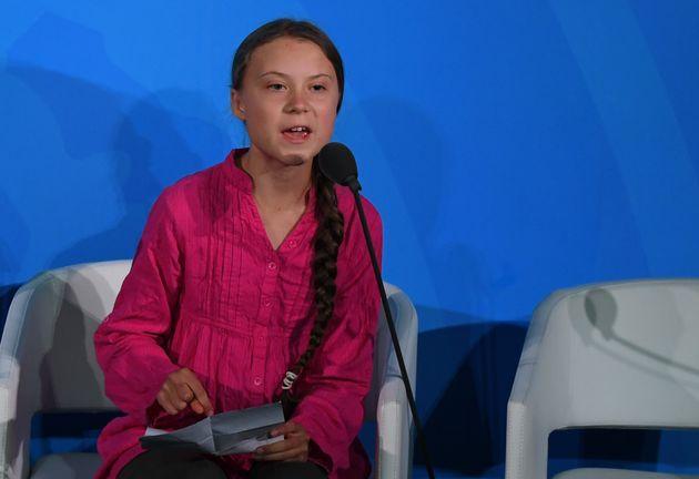 Greta Thunberg addresses the