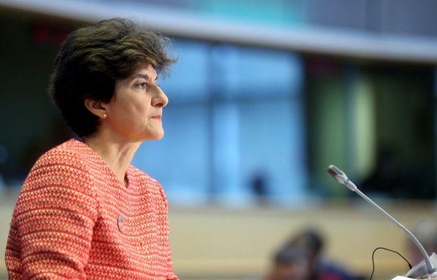 Sylvie Goulard devant les eurodéputés à Bruxelles mercredi 2