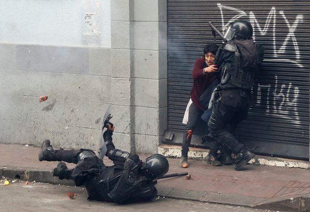 Caos en Ecuador durante las protestas del pasado