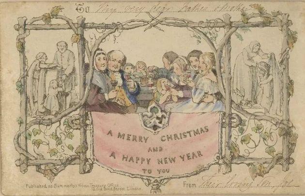 Η πρώτη χριστουγεννιάτικη κάρτα στον κόσμο κυκλοφόρησε το 1843 και απέτυχε