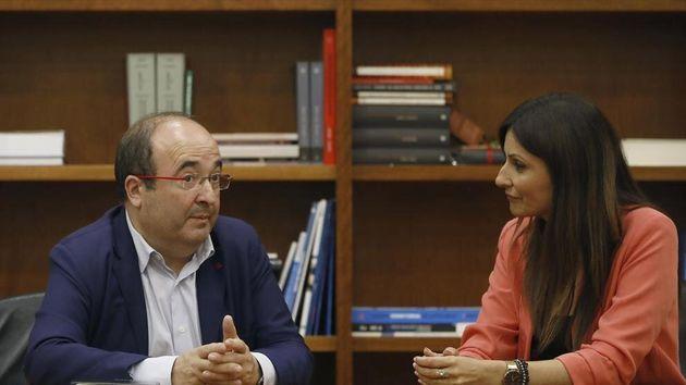 El líder del PSC, Miquel Iceta, y la de Cs en Cataluña, Lorena