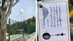 Arriva all'Ultimo Paradiso di Lecco, un palloncino lanciato per i funerali di una ragazza