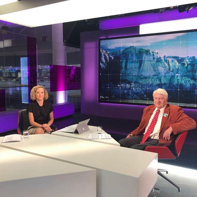 Stanley Johnson, père de Boris Johnson, lors d'une interview à la télévision britannique en septembre...