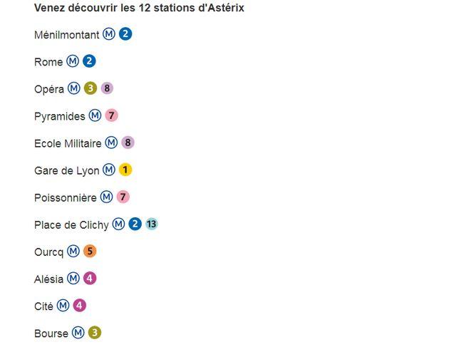 La RATP a partagé la liste des 12 stations de métro parisien qui ont été rebaptisés le temps d'une
