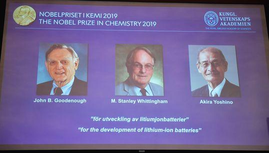 Le Nobel de chimie à un trio américano-britannico-japonais pour les batteries au