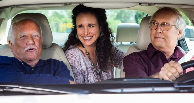Richard Dreyfuss, Andie MacDowell and Chevy Chase in