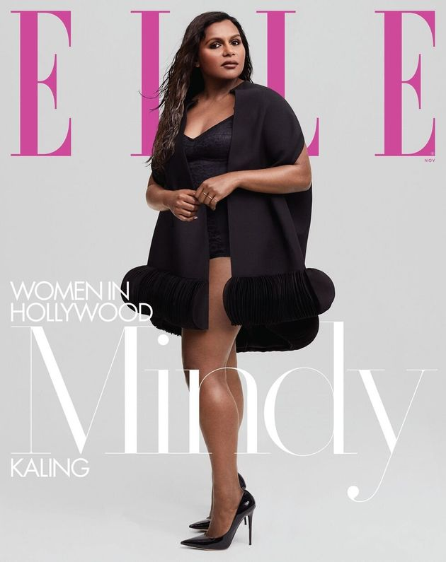 Mindy Kaling on the cover of the November issue of Elle