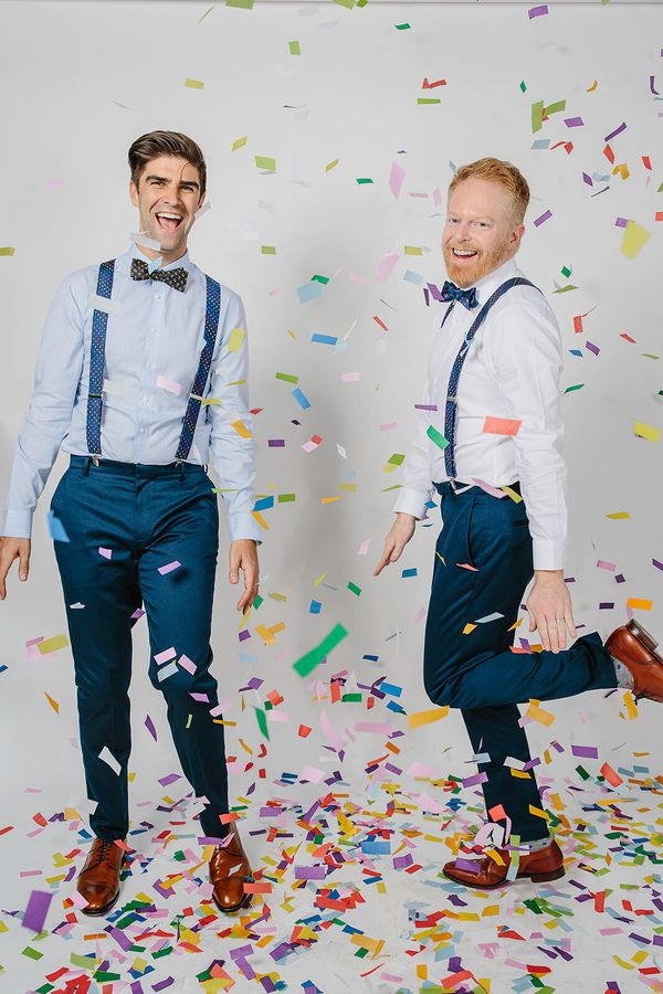 """Look at """"Modern Family"""" star Jesse Tyler Ferguson. He and his husband are so happy he has his own <a href=""""https://www.thetie"""