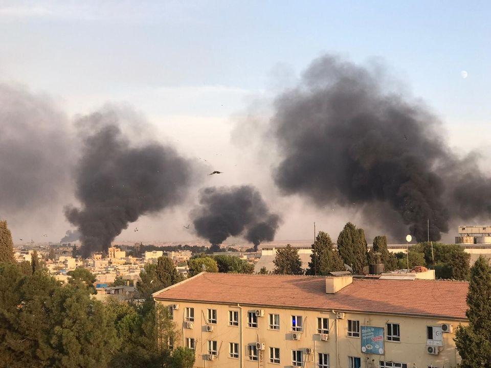 Οι πρώτες εικόνες από την τουρκική εισβολή και τους βομβαρδισμούς στη