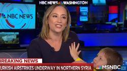 Une journaliste de NBC interrompue en plein direct par son