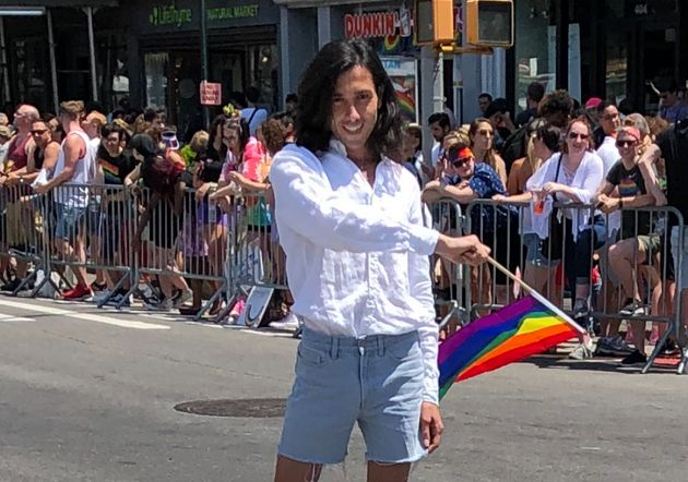 Amin Dzhabrailov celebrates World Pride in New York City in