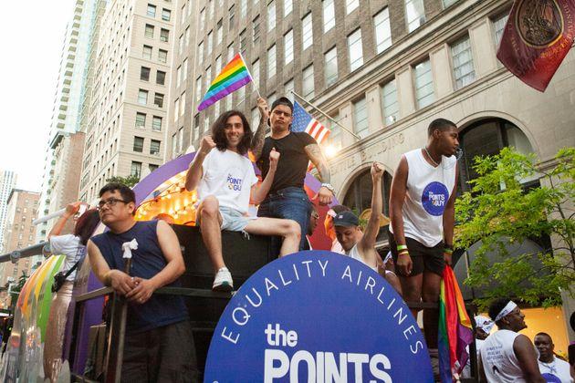 Dzhabrailov at the Pride parade in New York in