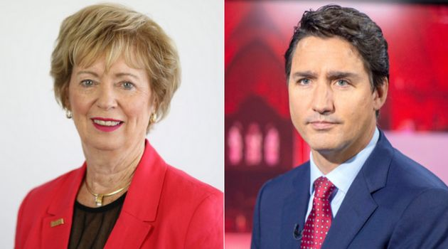 Liberal candidate Judy Sgro and party leader Justin Trudeau are shown in a composite