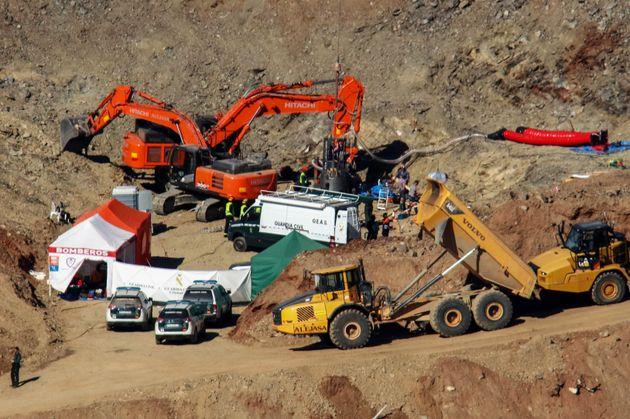 Imagen de archivo de las tareas de rescate de