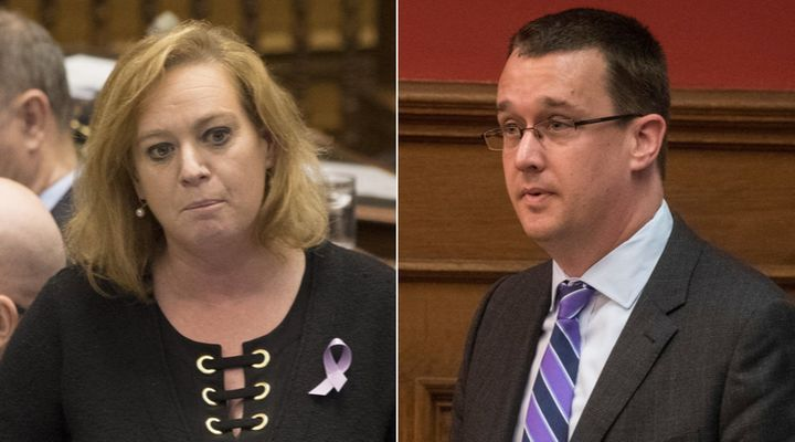 Ontario ministers Lisa MacLeod and Monte McNaughton told reporters Wednesday they are too busy running the province to get involved in the federal election.