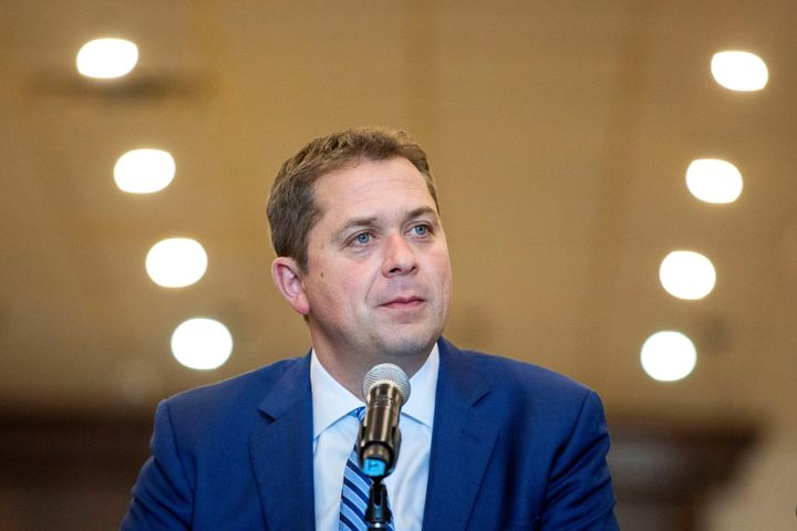 Conservative Leader Andrew Scheer campaigns for the upcoming election in Mississauga, Ont., on Oct. 8, 2019.