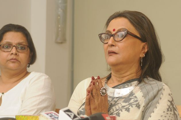 Filmmaker Aparna Sen speaks to media during a press