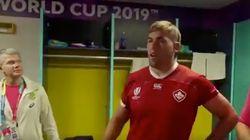 ラグビーワールドカップ、「これが本当のノーサイド」。退場した選手が試合後に相手ロッカールームで謝罪。その後、感動の展開に...