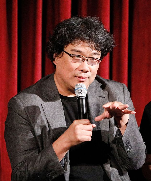 NEW YORK, NY - OCTOBER 07: Director Bong Joon Ho on stage during The Academy of Motion Pictures Arts...