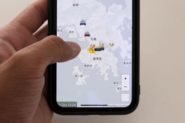 L'application HKmap.live controversée à Hong