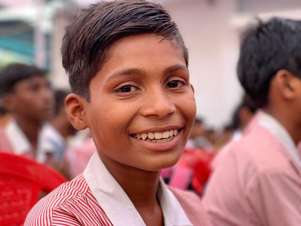 남학생에게 성평등 교육을 하는 인도의 학교를