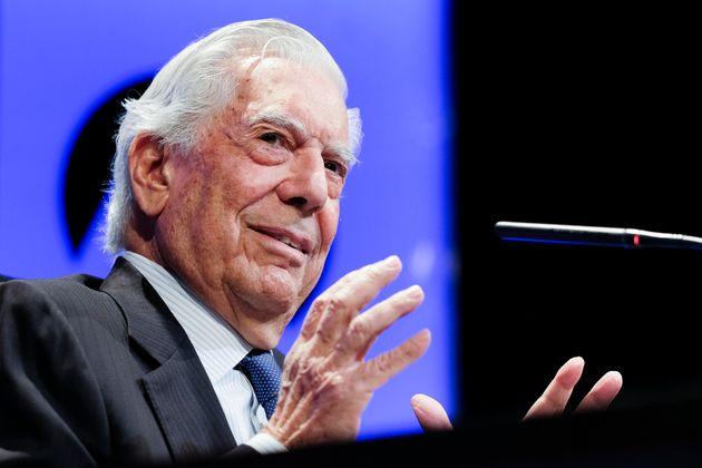 Mario Vargas Llosa, durante la presentación de 'Tiempos