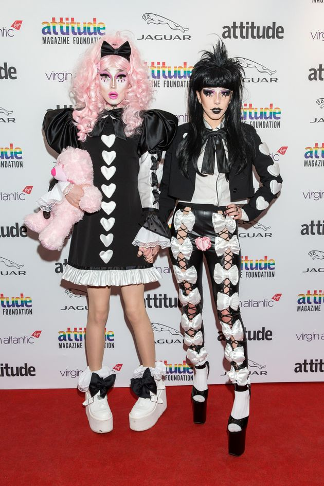 Scaredy and her girlfriend Pussy Kat at the Attitude Awards this