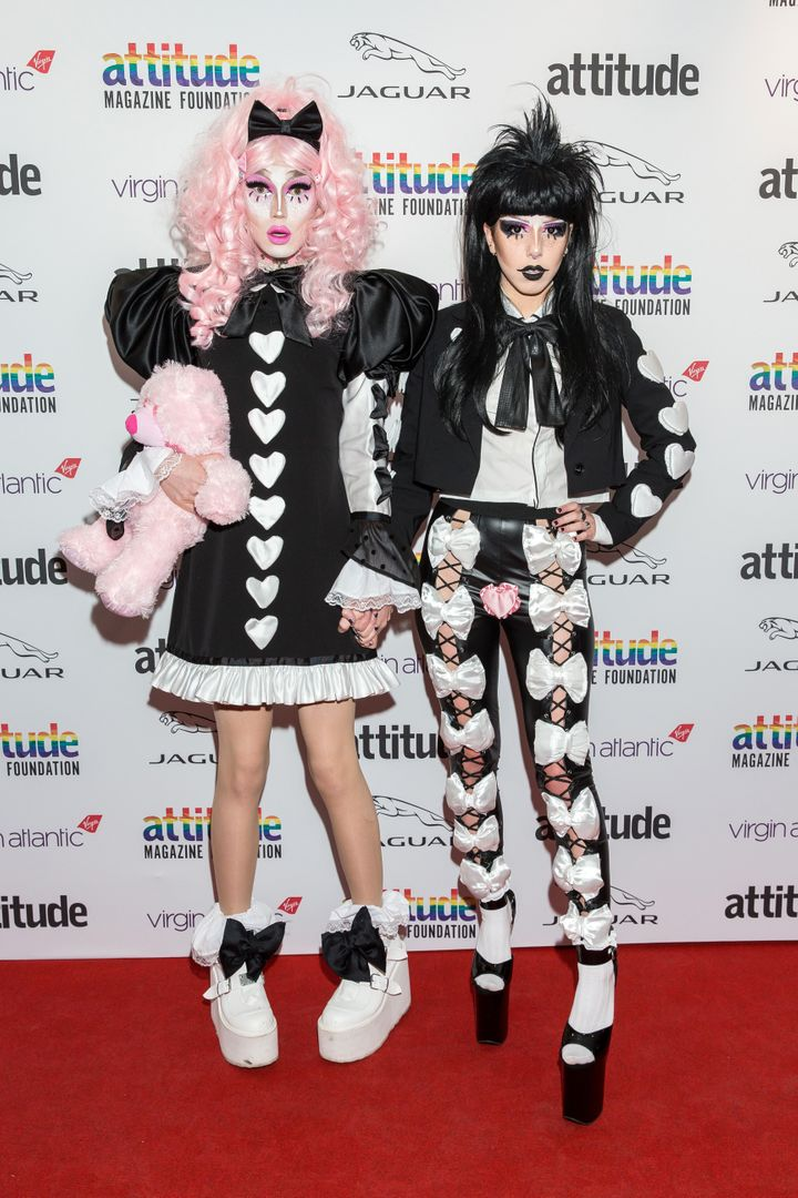 Scaredy and her girlfriend Pussy Kat at the Attitude Awards this week