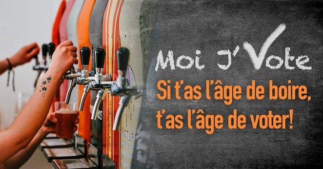 Des brasseurs et tenanciers de partout au Québec ont lancé la page Facebook Moi J'vote - Une bière pour...