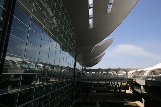 Opening of the new terminal of the Algerian international airport Houari Boumediene on April 24, 2019,...