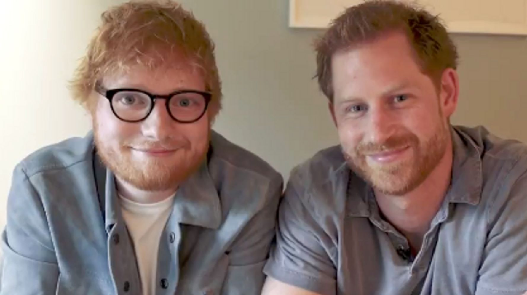 Westlake Legal Group 5d9f184220000058074ff372 Prince Harry And Ed Sheeran's Spoof Video Is Royally Hilarious