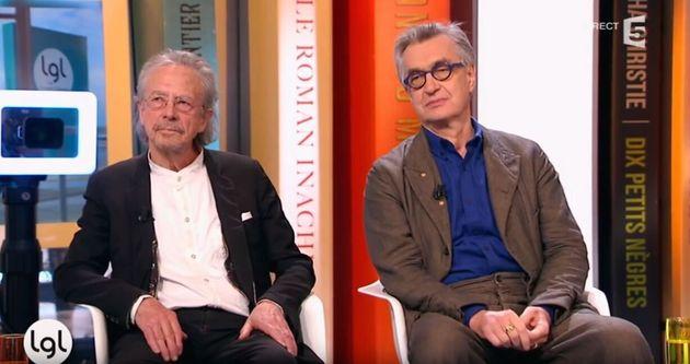 Le prix Nobel de littérature Peter Handke et le cinéaste Wim Wenders, amis de longue
