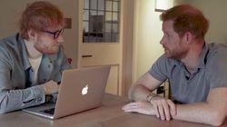 L'Inghilterra ha una nuova e strana coppia. Harry ospita Ed Sheeran per solidarietà