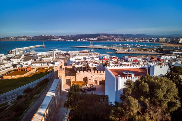 The old medina and the port of Tangier,