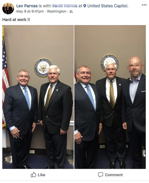 Lev Parnas meets with then-Rep. Pete Sessions (R-Texas) in May