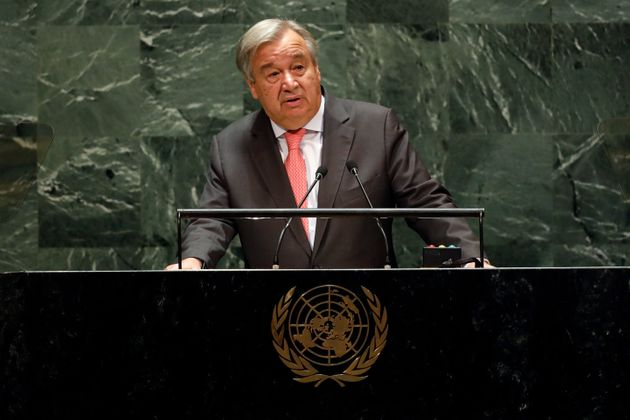 UN Secretary General Antonio Guterres addresses the 74th session of the United Nations General Assembly,...