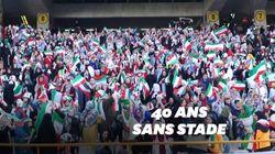 La joie des Iraniennes avant d'assister à un match de foot dans un