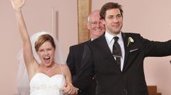 Jim And Pam's Wedding On 'The Office' Almost Had A Morbid Horse Death