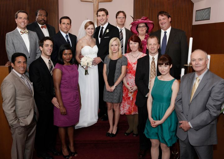 """The cast of the """"Niagara"""" episode on """"The Office."""""""