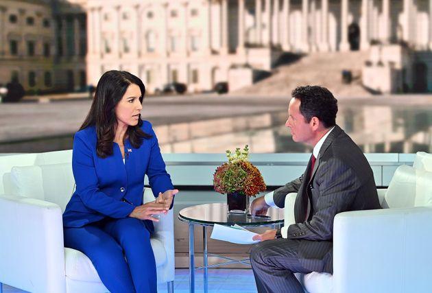 Democratic Presidential Candidate Tulsi Gabbard talks to host Brian Kilmeade at